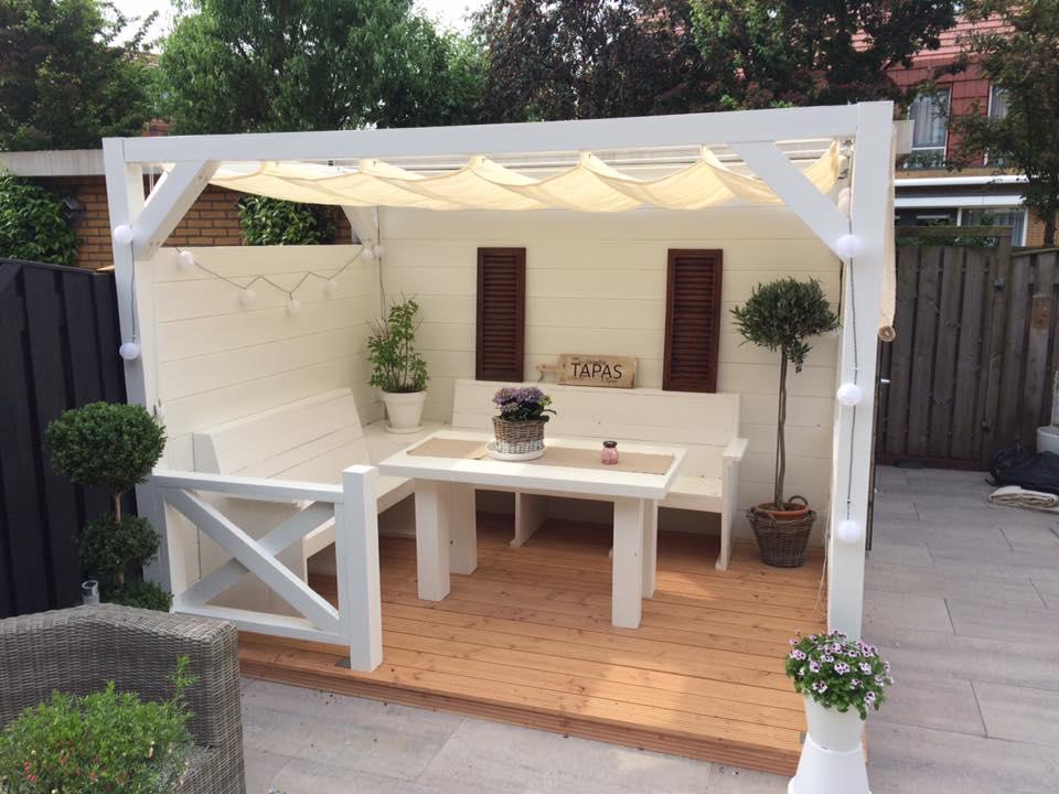 Tuin Veranda Maken : De veranda aan de schuur woodmancrafts